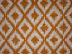 Orange Ikat Fabric by slgeorge on Etsy, $35.00