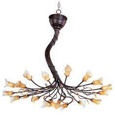 Save 10% off when you buy online. Use coupon code PIN10OFF0912 - Free shipping on orders over 49 dollars.    Hansen Lighting in Orem, Utah, United States, ET2 5VX8, Twenty Light Bronze Up Chandelier, Evolution, Bronze - Rustic Bronze
