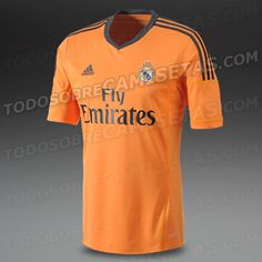 9a8e69278 Size L- Item Most Wanted - Football Shirts - adidas Real Madrid Third  Replica Short Sleeve Jersey - Replica Clothing - Light Orange-Dark Shale