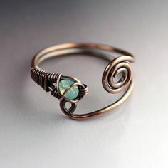 ... wire metal copper wire copper ring wire ring opal copper 1 2 diy rings