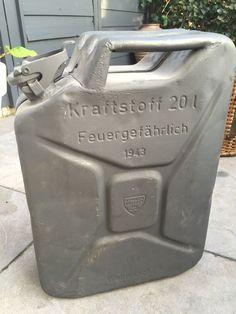 Online veilinghuis Catawiki: Wehrmacht Krafstoffbehalter 1943 WW2