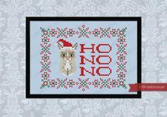 Christmas Grumpy Cat - Cross Stitch Patterns - Products