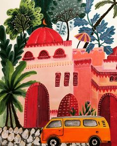Illustration by Roeqiya Fris. Art and illustration Art Inspo, Kunst Inspo, Painting Inspiration, Color Inspiration, Art And Illustration, Cartoon Illustrations, Posca Art, Art Design, Painting & Drawing