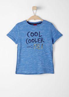 T-shirt en fil flammé à inscription s.Oliver. Découvrez dès maintenant des articles de mode au top de la tendance pour Femmes, Hommes et Enfants et commandez en ligne sans frais de port.