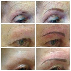 Eyebrow Embroidery set of 3 images created by Elizabeth Oakes, Europe's leading Permanent make up technician.