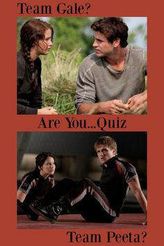 "In many book series and movies, people have been forced to pick a side in a love triangle, and the ""Hunger Games"" is no different. Are you team Gale or team Peeta? Take this quiz to find out! I'm Team Peeta. Well, at least I don't work for the Capitol! Hunger Games First Movie, Hunger Games Names, Hunger Games Quiz, Hunger Games Costume, Hunger Games Characters, Hunger Games Cast, Hunger Games Fandom, Hunger Games Humor, Hunger Games Trilogy"