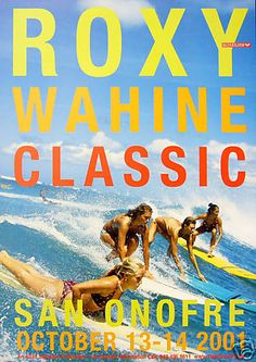 @ROXY Wahine Classic 2001 poster