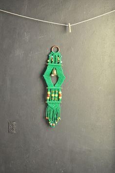 Vintage Christmas Macrame Bell Door Decoration. $20.00, via Etsy.