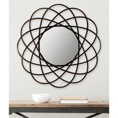 Safavieh Galaxy Warm Amber 32-inch Mirror (MIR4005B), Brown