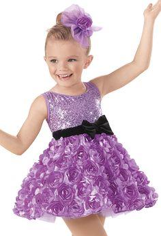 Weissman™   Sequin Rosette Party Dress
