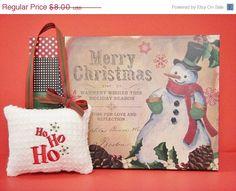 Christmas In July Sale Christmas Door Hanger by PookieandJack, $5.60