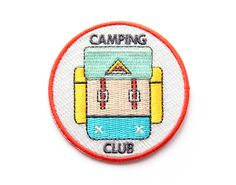 """Do+you+spend+your+free+time+on+hour+long+nature+walks?+Do+you+enjoy+the+outdoors?+Have+you+ever+stepped+foot+outside+of+your+house?  Then+you're+in+the+Camping+Club!!+Snag+this+patch+and+show+the+world+that+you+are+nature's+best+friend!  Iron-on+backing.+2+1/2""""+circle"""