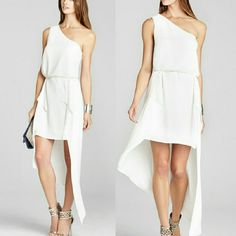 Bcbg Maxazria White Dress xs New BCBGMaxAzria Dresses High Low