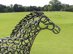 Horseshoe sculpture by Tom Hill
