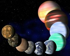 This artist's illustration represents the variety of planets being detected by NASA's Kepler spacecraft. Scientists now say that one in six stars hosts an Earth-size planet.  CREDIT: C. Pulliam & D. Aguilar (CfA)