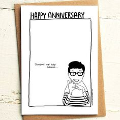 Tonight we are gonna f@#k - Anniversary Card - Brutally Honest Cards | Offensive | Offensive Anniversary | Happy Anniversay by iamstevestewart on Etsy