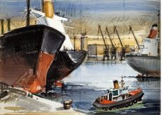 '' Tankers'' by Paris Seascape Paintings, Artist Gallery, Conceptual Art, Printmaking, Greece, Boat, Fine Art, Sculpture, Landscape