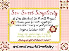 Sew Sweet Simplicity Block of the Month 2014