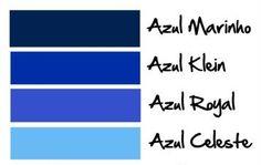 paletas de cores azul para madrinhas - Pesquisa Google