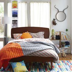 Kids Beds: Walnut Retro Ellipse Bed | The Land of Nod