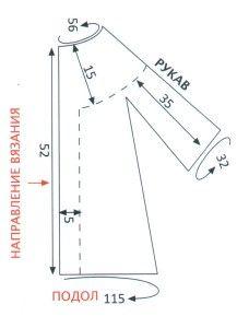 морскые выработки: накидка с пелериной выкройка