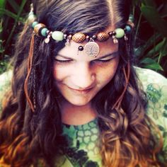 Mother Gaia's Tree of Life headpiece - Hand crafted using recycled materials <3