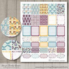 Printable Planner Stickers, Erin Condren Life Planner Stickers, Weekly Planner Stickers, ECLP Stickers