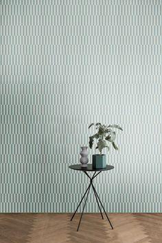 'Arch Wallpaper by Ferm Living. Wallpaper Decor, Table Style, Modern Wallpaper, Ferm Living Wallpaper, Home Decor Inspiration, Interior Deco, Living Room Colors, Wall Decor Design, Paintable Textured Wallpaper