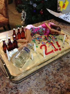 Funny 21st Birthday Cake