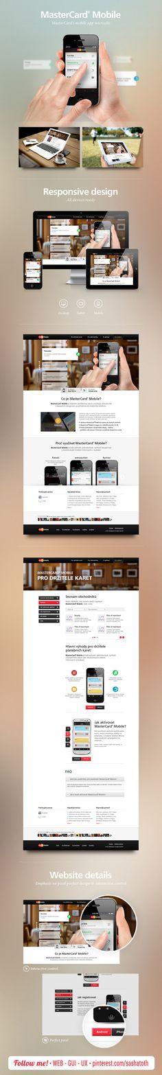 MasterCard Mobile Website by Ondřej Veselý, via Behance *** #web #responsive #design #behance