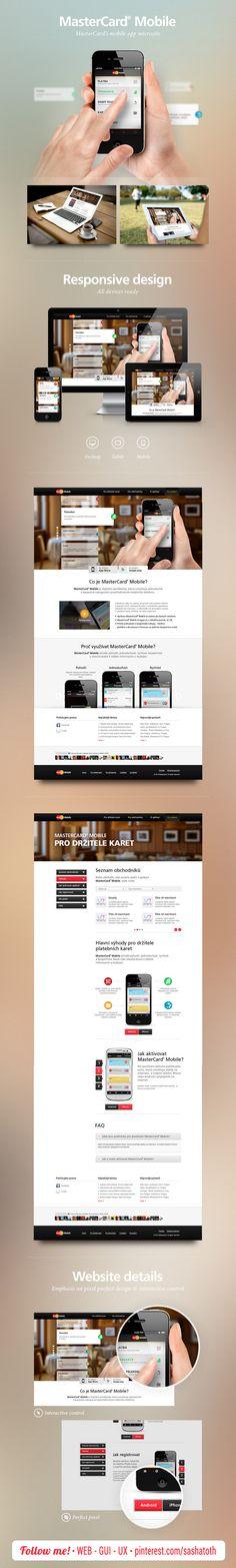 MasterCard Mobile Website by Ondřej Veselý, via Behance *** #web #responsive #design #behance