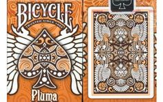 Bicycle Pluma Playing Cards in Orange