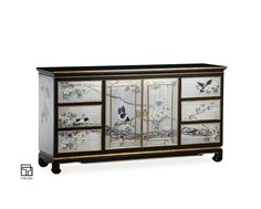 TALMD现代新中式手绘家具明清古典玄关... Sideboard Cabinet, Cabinet Furniture, Wooden Furniture, Credenza, Chinese Furniture, Oriental Furniture, New Chinese, Chinese Style, Furniture Styles