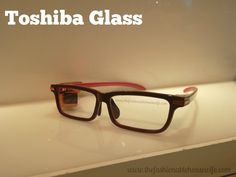 #CES2015 #Intel #IntelTablets We spotted TOSHIBA GLASS - a pretty neat wearable technology. Kinda like Google Glass, but looks like normal glasses. Very cool!