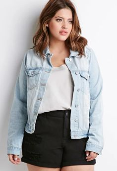 Distressed Denim Jacket | Forever 21 PLUS | #f21plus