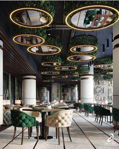 ANTICA CAFE on Behance Modern Restaurant Design, Modern Villa Design, Restaurant Seating, Japanese Interior Design, Restaurant Interior Design, Best Interior Design, Terrace Design, Cafe Design, Foyer Design
