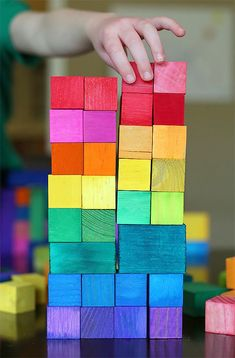 DIY Dyed Blocks