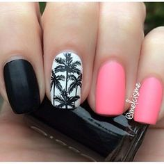 Personaly I would keep thee two pink nails black but its still beautiful