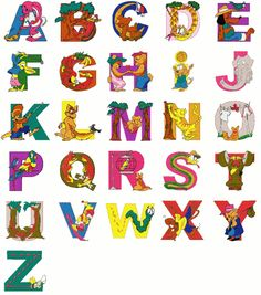 Alphabet Charts that Make the ABC's Cool on Pinterest | Alphabet, Abc ...