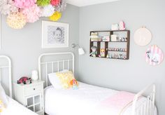 shared girls room {Daffodil Design}...shelf for little treasures