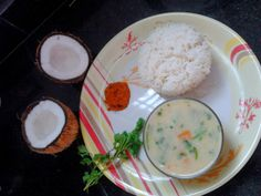Traditional south indian curry made from coconut milk. This delightful curry is called Sodhi