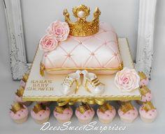 Girls Pink Baby Shower Cake - Tortendekore und Rezepte - Baby Tips Girl Baby Shower Decorations, Baby Shower Themes, Baby Girl Cakes, Cake Girls, Cake Baby, Cake Pink, Pillow Cakes, Prince Cake, Royal Cakes