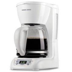Black & Decker Cafe Noir DLX1050W 12-Cup Automatic Coffee Maker White New in Box #BlackDecker