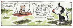 """Ricardo Siri - """"Liniers"""" (1973) historietista argentino.- Macanudo"""