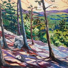 """""""Hold on Tight"""", Algonquin Provincial Park. Acrylic on Canvas - Anna Clarey Oil Paintings, Watercolor Paintings, Art Articles, O Canada, Workshop Ideas, Canadian Artists, Water Colors, Acrylic Art, Landscape Art"""