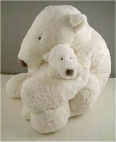 Amazon.com: Cuddly Stuffed Polar Bear, TIMON, 13 Inches, by Dimpel: Toys & Games