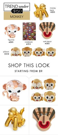 """""""Trend Under $150: Monkey"""" by polyvore-editorial ❤ liked on Polyvore featuring interior, interiors, interior design, home, home decor, interior decorating, Monkey and trendunder150"""