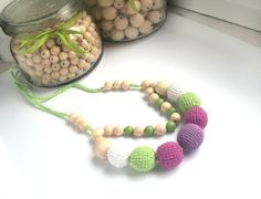 Boho necklace/ Two rows mixed summer by LittleSweetCandyShop