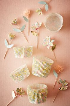 BHLDN Liberty Print Cupcake Kit  in  Décor Cake Accessories at BHLDN