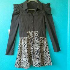 Spotted while shopping on Poshmark: Button Down Animal Print Flare Dress! #poshmark #fashion #shopping #style #Dresses